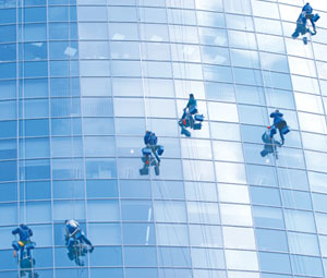 Window Washers on Commercial Building